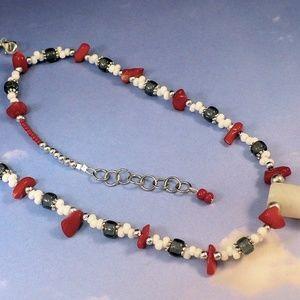 Jewelry by Scotti Jewelry - Red White Blue Gemstone Necklace